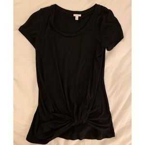 BP Nordstrom Black Knotted Tee